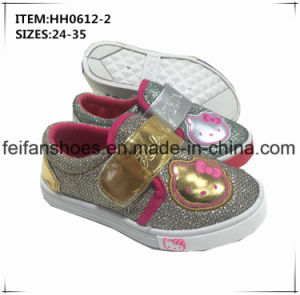 Children Sport Shoes Casual Injection Canvas Shoes OEM (HH0612-2) pictures & photos