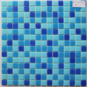 Hotel Pool Used Classical Mosaic Tile Ocean Blue Mixed Melt Glass Mesh pictures & photos