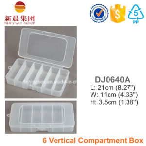 6 Vertical Compartment Plastic Box pictures & photos