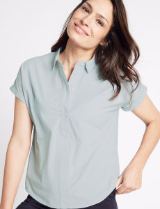 Pure Cotton Slim Fit Poplin Shirt pictures & photos