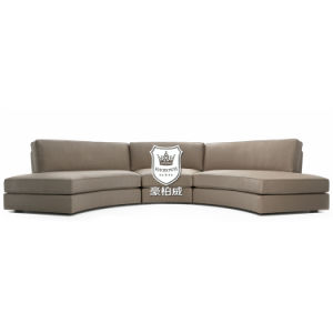 Modular Curve 5 Seater Sofa for Hotel with Timber Construction pictures & photos