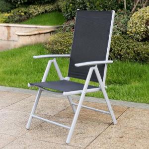 Leisure Lounge Patio Garden Morden Office Home Hotel Aluminum Textilene Arm Chair (J831) pictures & photos