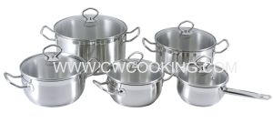 10PCS Coookware Set with Ss Wire Handle pictures & photos