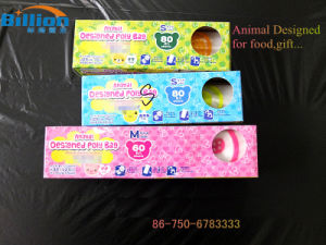 HDPE Animal Designed Plastic Bag Gift Packing Plastic Rolled Bag Food Packing pictures & photos