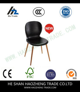 Hzpc044 Capacity Designer Black Plastic Stack Chair with Black Frame pictures & photos