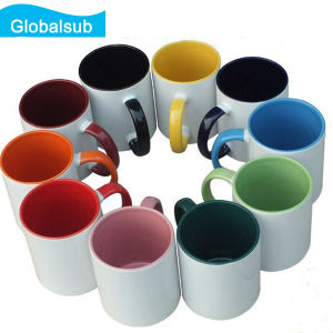 11oz DIY Color Mug Handle and Inside Color Mug for Sublimation pictures & photos