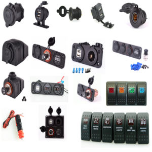 Marine Cigarette Lighter Splitter Power Adaptor Sockets and USB Charger pictures & photos