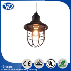 American Retr Iron Industry Rail Frame Cage Classical Pendant Lights