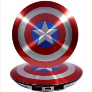 New Style Luxury Captain America Power Bank 7000mAh High Quality pictures & photos