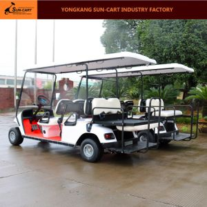 6 Passenger Ce Approved Hotel Electric Golf Cart (Rear back folding seats) pictures & photos