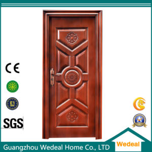 Amored Security Wooden Steel Door for Hotels pictures & photos