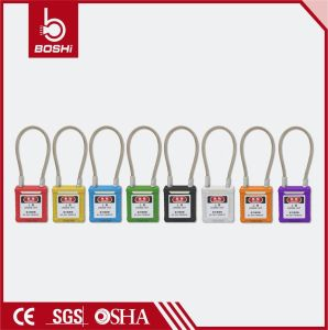 Colorful Safety Padlock Wire Padlock Stainless Steel Shackle Padlock Bd-G41 pictures & photos