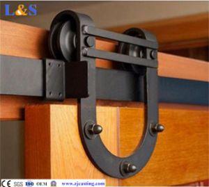 Black Sliding Barn Door Hardware (LS--SDU-106) pictures & photos