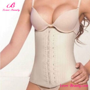 Erogenous Nude Slimming Latex Waist Training Corset pictures & photos