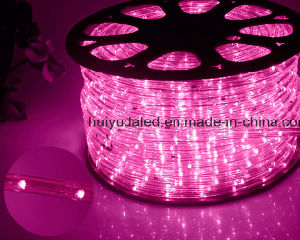 LED Rope Light/Outdoor Light/LED Strip Light/Neon Light/Christmas Light/Holiday Light/Hotel Light/Bar Light Round Two Wires Pink Color 25LEDs 1.6W/M LED Strip pictures & photos