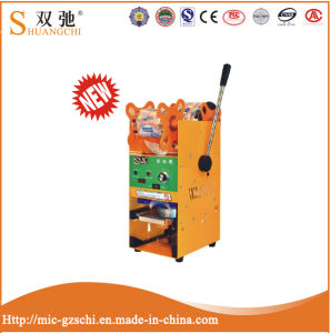 High Body Yellow Manual Sealing Cup Machine for Sale pictures & photos