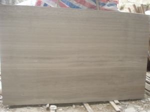 Chinese Customized Design Natural Stone, Polished Timber Grey Slab pictures & photos
