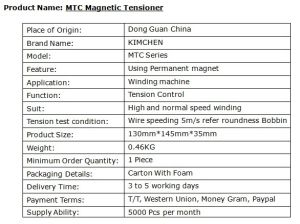Magnetic Tension unit (MTCLL) for Wire Dia (0.14-0.40mm) pictures & photos