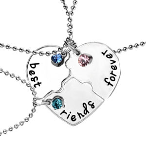 Promotional Jewelry Gift-Bff Best Friends Forever Love Break Heart Pendent Friendship Crystal Necklaces pictures & photos