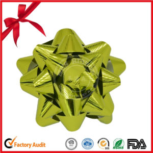 Customized Wholesale Metallic Embossed Star Bow pictures & photos