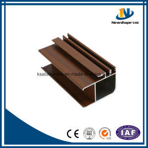 Algeria Market Aluminium Extrusion Profile Wood Grain pictures & photos