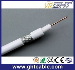 1.02mmccs, 4.8mmfpe, 80*0.12mmalmg, Od: 6.8mm Black PVC Coaxial Cable RG6 pictures & photos