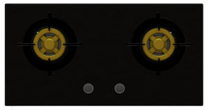 Supreme Two Brass Burner Gas Stove (8mm Glass) pictures & photos