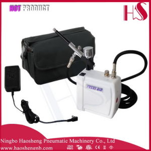 HS08AC-Skc Airbrush Compressor Kit Portable Spray Make up for Cake Decorating Nail Tattoos pictures & photos