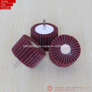 12.7*25.4*6.35mm, P40, Aluminum Oxide Abrasive Grinding Flap Wheel with Shaft pictures & photos