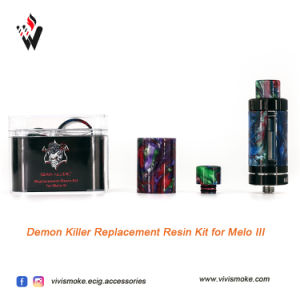 Demon Killer Resin Tube with Drip Tip Kit Suit for Cleito 3.5ml Ijust S Tfv8 Tfv8 Baby Melo III Melo III Mini with Resin Drip Tips pictures & photos