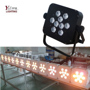 Wedding Party Disco Club Decoration 9PCS Rgabwuv LED Stage Lights