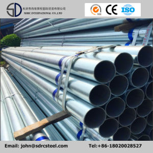 Straight Seam Welded Hot DIP Galvanized Round Steel Pipe (Tube) pictures & photos