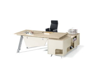 Graceful Modern Company Acrylic Solid Surface Wood Office Desk pictures & photos