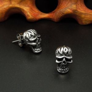 Skull Ear Stud Punk Men Fashion Accessories 316L Stainless Steel pictures & photos