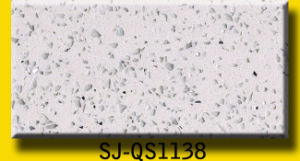 Artificial Black Sparkly Quartz Slab pictures & photos
