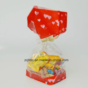 Customzied Printed BOPP Transparent Square Hard Bottomed Side Gusset Cellophane Candy Bags Gift Bag with Hard Bottom pictures & photos