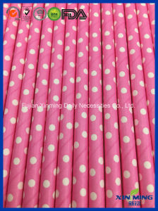 Baby Shower Party Decoration Pink DOT Paper Straw pictures & photos