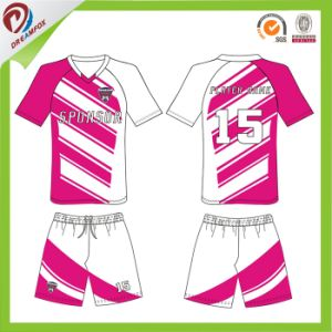 100%Polyester Sublimation Soccer Uniform with Custom Services pictures & photos
