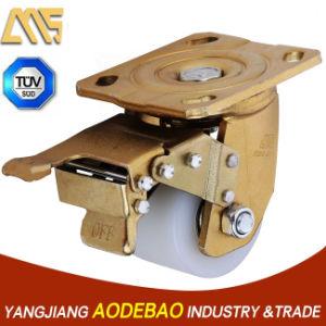 Extra Heavy Duty Low Gravity Double Brake Nylon Caster Wheel pictures & photos