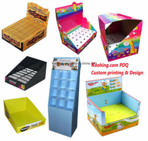 Blue Corrugated Cardboard PDQ Display Box Pop Paper Display pictures & photos