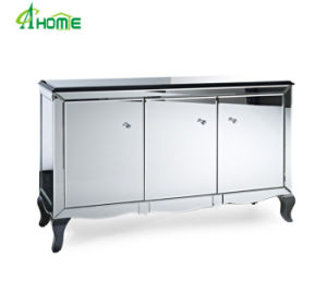 Modern Cheaper Hotsale Home Decorative Fancy Mirrored Furniture with Wood Legs pictures & photos