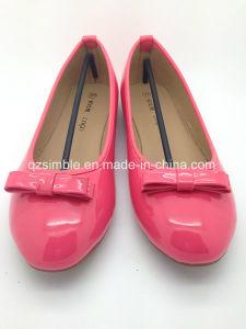 Fushia Patent PU Flat Ballerinas for Women pictures & photos