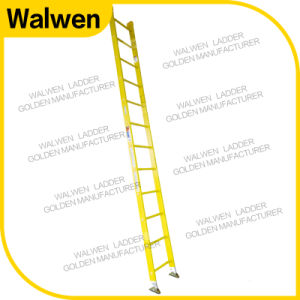 Single Ladder Insulation Fiberglass Straight Step Ladder pictures & photos