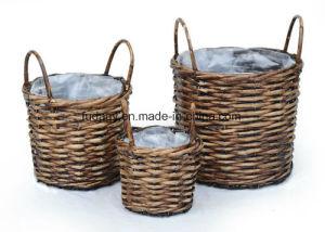 Rattan Wicker Handmade Garden Planter for Home and Garden pictures & photos
