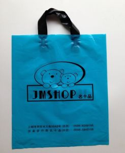 Printed Plastic Shopping Bag Carrier Bag Soft Loop Plastic Bag pictures & photos