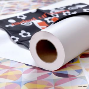 Fast Dry/Mini Jumbo Roll 55, 70, 90, 100GSM Anti-Ghost Tacky, High Tacky Sublimation Transfer Paper for Textile, Sportswear, Ms Jp Printer, 120′′ pictures & photos