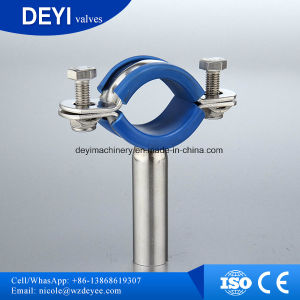 Sanitary Stainless Steel Round Pipe Holder with Sleeve (DY-P016) pictures & photos