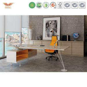 Modern Office Furniture L Shape Wooden Executive Desk (MAKER-MD18) pictures & photos