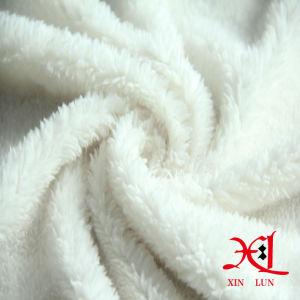 Pure White 100% Polyester Fleece Sherpa Fabric for Garment/Scarf pictures & photos