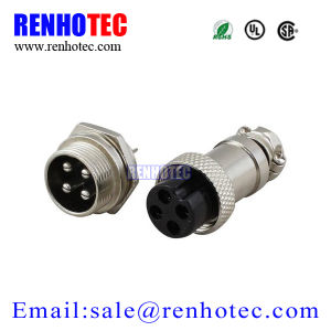 12mm 4 Pin XLR Aviation Plug Waterproof IP55 Chassis Mount Connectors pictures & photos